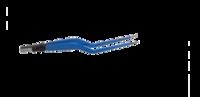 """ЕМ253Е Биполярный пинцет загнутый, длина 190 мм, размер площадки 8 х 1 мм, """"евростандарт"""""""