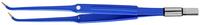 """ЕМ253ССЕ Биполярный пинцет загнутый антипригарный CLEANTips, длина 190 мм, размер площадки 8 х 1 мм, """"евростандарт"""""""