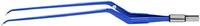 """ЕМ270-3СЕ Биполярный пинцет байонетный конусный загнутый вниз антипригарный CLEANTips, длина 230 мм, размер площадки 6 х 0,7 мм, """"евростандарт"""""""