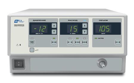 ИНС1 Инсуффлятор  с микропроцессорной системой управления и самотестирования и комплектом присоединительных шлангов по ТУ 9444-005-41747567-2002 в исполнении: без нагревателя газа ИНС-001-«ФОТЕК»